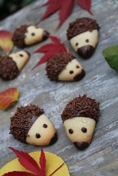 halloween desserts – Sweet Hedgehog # Cookies with Hedgehog Cookies, Hedgehog Recipe, Dessert Halloween, Bon Dessert, Food Humor, Fall Desserts, Cute Food, Cream Recipes, Creative Food