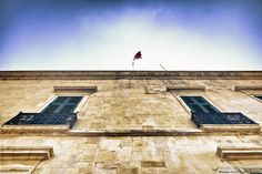 The Palace in Valletta. #Valletta #Malta #mediterranean #Knights #flag #windows #palace #culture #Knightsoftheorder #abstract #skies #sky