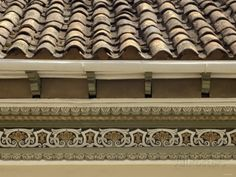 Tiled Roof and Trim Detail in the Spanish Colonial City of Cuenca, Ecuador Photographic Print at AllPosters.com