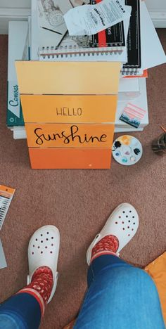 p i n t e r e s t :                  ✰ casey elizabeth ✰ Summer Aesthetic, Orange Aesthetic, Diy Room Decor, Bedroom Decor, Cute Crafts, Body Painting, Diy Art, Art Inspo, Crocs