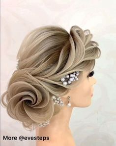 Loose Braid and Chignon - 30 Quick and Easy Updos for Long Hair - The Trending Hairstyle Up Hairstyles, Braided Hairstyles, Wedding Hairstyles, Bridal Hairstyle, Hair Style Vedio, Competition Hair, Hair Up Styles, Hair Videos, Hair Art