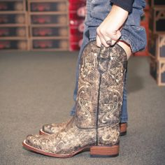New Circle G Distressed Embroidered Cowgirl Boot by Corral! $129.99