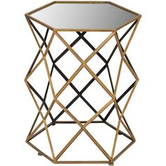 Dot & Bo Critchfield Accent Table ($91) ❤ liked on Polyvore featuring home, furniture, tables, accent tables, wood furniture, wood accent table, hex table, hexagon table and wooden furniture