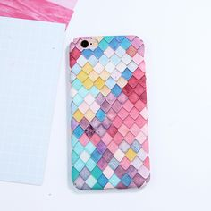 Fashion Colorful 3D Scales Hard Phone Cases For iPhone 7 Plus 7 6 6S Plus Korean Girls Mermaid Cover For iPhone 6 Case   iPhone Covers Online