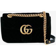 GUCCI GG Marmont Velvet Shoulder Bag (3.425 BRL) ❤ liked on Polyvore featuring bags, handbags, shoulder bags, bolsas, gucci, shoulder hand bags, gucci handbags, shoulder bag purse and man bag