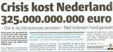 Crisis!!! de aandelenbeurs is ingestort en er staat een hele zware economische crisis te komen. Kingdom Of The Netherlands, Retail, Van, Names, Shops, Retail Merchandising, Vans, Retail Space