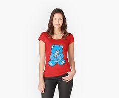 teddy bear hug skyblue by IMPACTEES