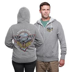 Millennium Falcon Unisex Zip Up Hoodie - Exclusive