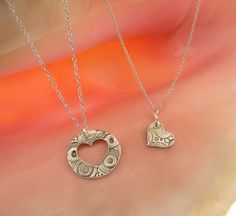 Mother & Child Pendant/ Piece of Mommy's Heart by MayaBelle, $75.00