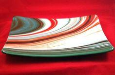 Christmas Rectangular Platter - by Coastal Dichroic. Delphi Artist Gallery