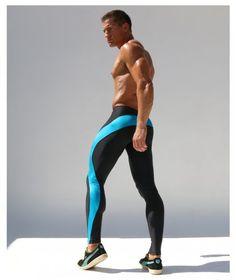 Rufskin Vroom Black/Turquoise Running Tight