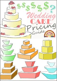 Wicked Goodies | Wedding Cake Pricing Guide | https://www.wickedgoodies.net Wedding Cake Guide, How To Make Wedding Cake, Wedding Cake Prices, Wedding Cakes, Wedding Cake Decorations, Baking Business, Cake Business, Cake Serving Guide, Cake Serving Chart