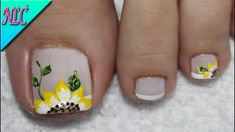 Make an original manicure for Valentine's Day - My Nails Acrylic Toe Nails, Toe Nail Art, Pedicure Designs, Toe Nail Designs, Cute Toe Nails, Fun Nails, Feet Nail Design, Sunflower Nails, Diva Nails