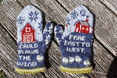 My unfortunate 18th century Outlander Obsession based on Diana Gabaldon's Outlander Series continues unabated. I've added two new poetry mittens to the Outlander collection.