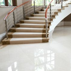 Unique Marble Flooring Inspiration Marble Flooring Simple Marble Flooring Saura V Dutt Stones The Best Marble Marble Staircase, Staircase Design, Stair Design, Grand Staircase, Granite Stairs, Italian Marble Flooring, Hearth Stone, Village House Design, Elegant Curtains