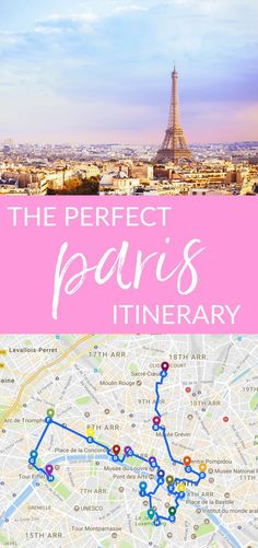 Heading to Paris for the first time and not sure what to do? This is the perfect Paris itinerary. #paris #itinerary #parisitinerary #travel #wanderlust #vacation #france Quoi Faire A Paris, Paris France Travel, Paris Travel Tips, Travel Bag, Packing Tips For Travel, Europe Travel Tips, Travel Guides, Travel Chic, Top Travel Destinations