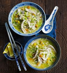 Chicken and Vermicelli Noodle Soup - get recipe here: http://www.dailymail.co.uk/femail/food/article-3286486/One-pot-warmers-Chicken-vermicelli-noodle-soup.html