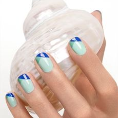 tip it off by essie - wrap your tips in contrasting azure for a surprising twist on the french manicure.