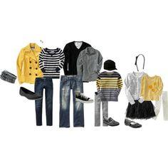 Yellows, greys, black & jeans