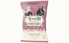 Premium snack brand Tyrrells has unveiled a sharing pack of its Poshcorn in time for the Christmas sales period. Popcorn, Snack Brands, Shops, Potato Chips, Sweet And Salty, Confectionery, Christmas Sale, Product Launch, Snacks