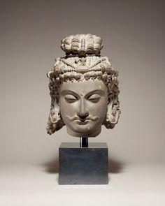 Head of a Bodhisattva | Pakistan , ancient region of Gandhara 3rd–4th century