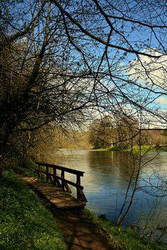 Spring on the River Tweed, St. Boswells, Scotland, UK, taken by Billtam