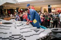 Lego 'master builders' use 250,000 bricks to recreate the Millennium Falcon