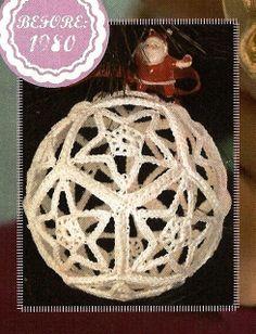 X629 Crochet PATTERN ONLY Star Motif Hollow Ball by BeadedBundles, $3.95