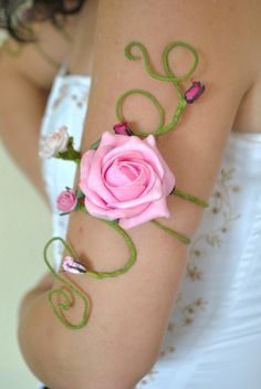 Upper arm cuff delightful and delicate Pink от InMyFairyGarden
