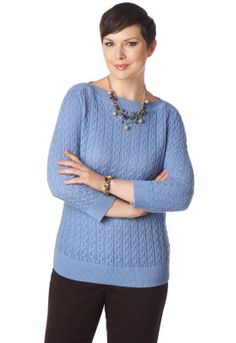 Textured Boat Neck Pullover