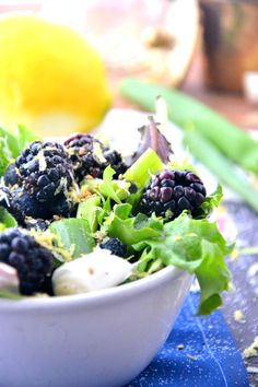 Blackberry Salad Recipe @TheHealthyApple