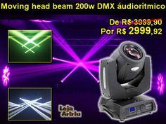 OFERTA! Moving Head Beam 200 5R DMX Áudio-Rítmico: de R$ 3999.90 por apenas R$ 2.999,92 em http://www.aririu.com.br/moving-head-beam-200-5r-dmx-audioritmico-lampada-200w_196xJM