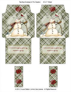 Digital Printable Tea Bag Envelope