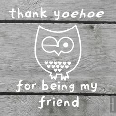 Vriendschap kaarten - Thank y-oehoe for being my friend