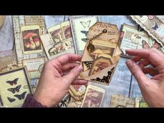 Extreme Ephemera- Tons of Embellishment Ideas in One Quick Video, Easy Junk Journaling Tutorial - YouTube Mini Scrapbook Albums, Mini Albums, Smash Book Planner, Paper Pocket, Craft Packaging, Personalized Gift Tags, Album Book, Junk Journal, Journal Ideas