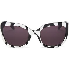 Moschino Retro Cat Eye Sunglasses, 56mm ($345) ❤ liked on Polyvore featuring accessories, eyewear, sunglasses, cat-eye glasses, cat eye sunnies, retro style glasses, moschino glasses and retro eyewear