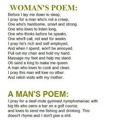 The difference between men and women.