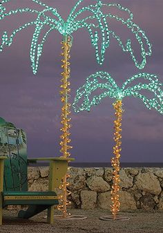 Fun outdoor lighted palm trees!