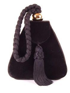 "Bolso vintage, 80´s, Vintage Hand bag, Sac à main retro. ""Terciopelo negro"""