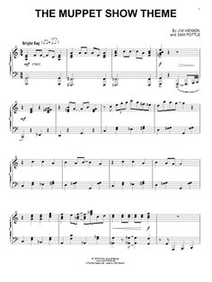 Nouvelle partition piano sur Modern Score ! Jim Henson: The Muppet Show Theme - Partition Piano Solo #sheetmusic #piano #JimHenson #Henson