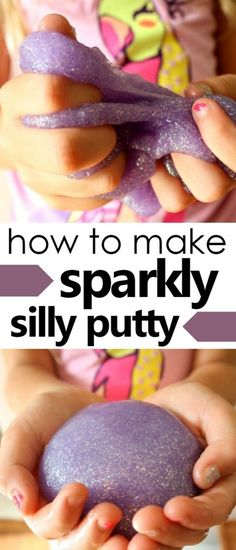 How to Make Glitter Silly Putty-This sensory play recipe using Glitter Glue is quick to make. It's a great boredom buster for busy kids. Sensory Play Recipes, Playdough Activities, Preschool Science, Preschool Ideas, Teaching Ideas, Glitter Putty, Glitter Glue, Glitter Playdough, Putty And Slime