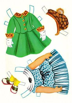 hello patti paper doll outfits 1962
