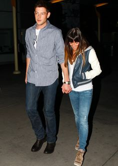 Lea and Cory leaving ArcLight  February 03, 2013 <3 #Cute
