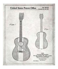 This Buck Owens Guitar 1972 Art Print is perfect! #zulilyfinds