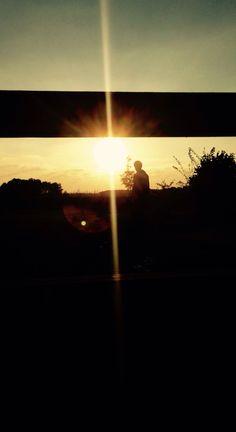 Sundown in autumn