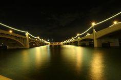 Mill Avenue Bridges at Night, Tempe.