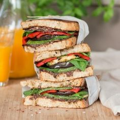 This Vegan Mediterranean Sandwich recipe is all about color and flavor. This may be the healthiest, most delicious, vegan sandwich recipe ever. Vegan Sandwich Recipes, Vegan Recipes, Lazy Cat Kitchen, Healthy Snacks, Healthy Eating, Wrap Sandwiches, Plant Based Recipes, A Food, Stuffed Peppers