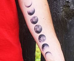 Marvel at the majesty of our moon at all hours of the day by placing this moon phases temporary tattoo on your body. This high quality tattoo is made with all natural ink that beautifully depicts every phase in the lunar cycle and last for up to seven days.