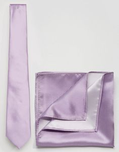 Wedding Tie And Pocket Square Pack In Lilac $15