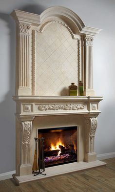 Good Photographs classic Fireplace Mantels Strategies – Rebel Without Applause Fireplace Mantel Surrounds, Stone Mantel, Fireplace Doors, Home Fireplace, Living Room With Fireplace, Fireplace Design, Beach Fireplace, Built In Shelves Living Room, Antique Fireplace Mantels